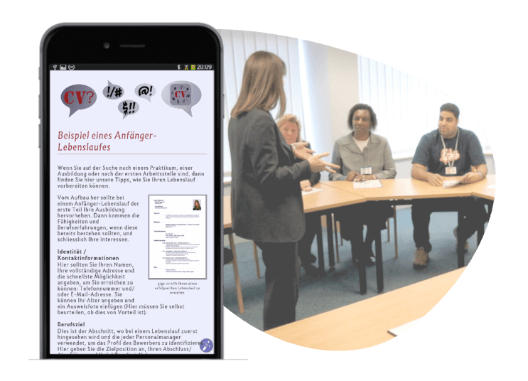 Jobsuche - Tipps App für iOS und Android Smartphone