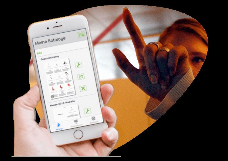 Verkauf - Katalog-App für iOS-Smartphone