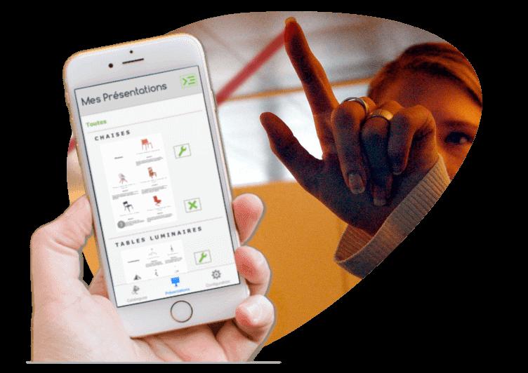 vente appli catalog smartphone IOS