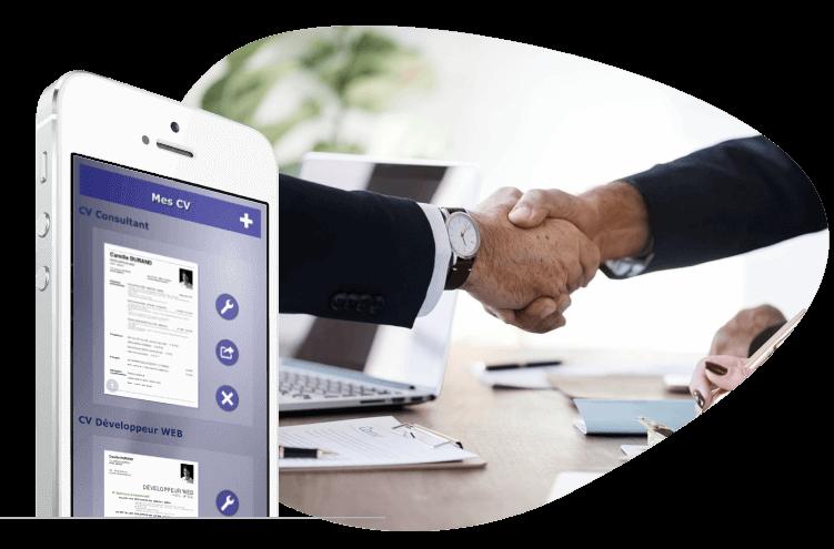 recherche emploi appli giga-cv pour smartphone IOS et ANDROID
