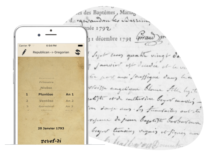 genealogy - app revol-di for IOS smartphone