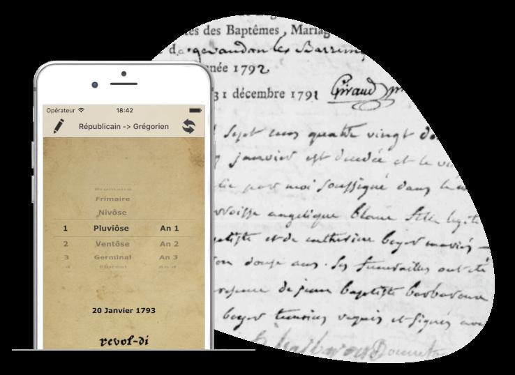 généalogie appli revol-di smartphone IOS